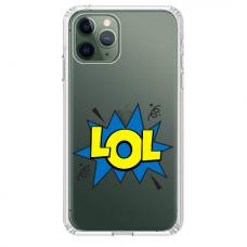 """Iphone 11 Pro TPU dėklas unikaliu dizainu 1.0 mm """"u-case Airskin LOL design"""""""