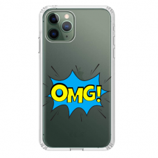 """Iphone 11 Pro TPU dėklas unikaliu dizainu 1.0 mm """"u-case Airskin OMG design"""""""