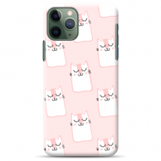 "Iphone 12 pro max TPU dėklas unikaliu dizainu 1.0 mm ""u-case Airskin Pink Kato design"""