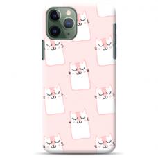 "Iphone 11 pro TPU dėklas unikaliu dizainu 1.0 mm ""u-case Airskin Pink Kato design"""
