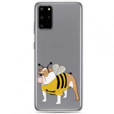 "Samsung Galaxy Note 10 Lite TPU dėklas unikaliu dizainu 1.0 mm ""u-case Airskin Doggo 1 design"""