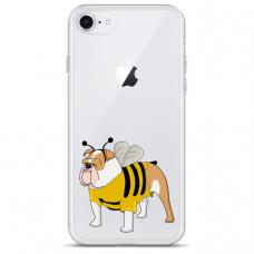 """Iphone SE 2020 TPU dėklas unikaliu dizainu 1.0 mm """"u-case Airskin Doggo 1 design"""""""