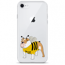 """Iphone 7 / Iphone 8 silikoninis dėklai su paveikslėliu 1.0 mm """"tavotel doggo 1 design"""""""