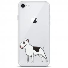 """Iphone SE 2020 TPU dėklas unikaliu dizainu 1.0 mm """"u-case Airskin Doggo 3 design"""""""