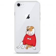 """Iphone SE 2020 TPU dėklas unikaliu dizainu 1.0 mm """"u-case Airskin Doggo 5 design"""""""
