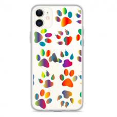 """Iphone 11 TPU dėklas unikaliu dizainu 1.0 mm """"u-case Airskin PAW design"""""""