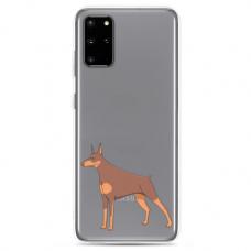 "Samsung Galaxy S10 Lite TPU dėklas unikaliu dizainu 1.0 mm ""u-case Airskin Doggo 6 design"""