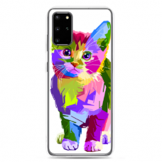 "Samsung Galaxy S20 TPU dėklas unikaliu dizainu 1.0 mm ""u-case Airskin Kitty design"""