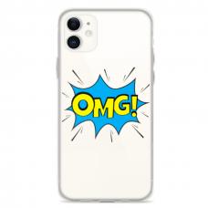 """Iphone 12 Mini TPU dėklas unikaliu dizainu 1.0 mm """"u-case Airskin OMG design"""""""