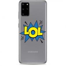 """Samsung Galaxy S20 plus TPU dėklas unikaliu dizainu 1.0 mm """"u-case Airskin LOL design"""""""