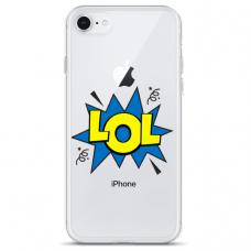 """Iphone 7 / Iphone 8 TPU dėklas unikaliu dizainu 1.0 mm """"u-case Airskin LOL design"""""""
