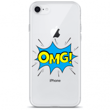 "Iphone 6/6s TPU dėklas unikaliu dizainu 1.0 mm ""u-case Airskin OMG design"""