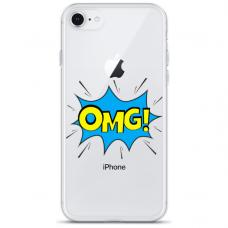 """Iphone 7 / Iphone 8 TPU dėklas unikaliu dizainu 1.0 mm """"u-case Airskin OMG design"""""""