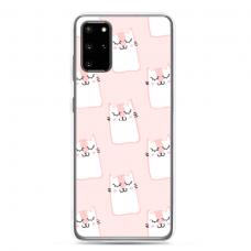 "Samsung Galaxy S20 plus TPU dėklas unikaliu dizainu 1.0 mm ""u-case Airskin Pink Kato design"""