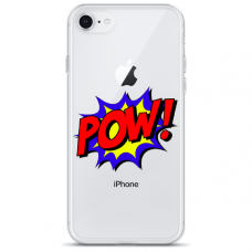 "Iphone 6/6s TPU dėklas unikaliu dizainu 1.0 mm ""u-case Airskin POW design"""