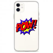 "Iphone 12 TPU dėklas unikaliu dizainu 1.0 mm ""u-case Airskin POW design"""