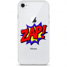 """Iphone SE 2020 TPU dėklas unikaliu dizainu 1.0 mm """"u-case Airskin ZAP design"""""""