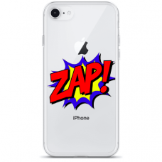 "Iphone 6/6s TPU dėklas unikaliu dizainu 1.0 mm ""u-case Airskin ZAP design"""