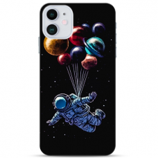 """Iphone 11 TPU dėklas unikaliu dizainu 1.0 mm """"u-case Airskin Cosmo design"""""""