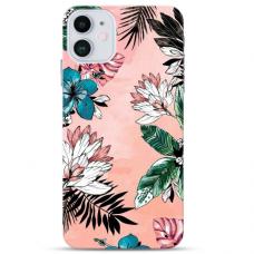 """Iphone 11 TPU dėklas unikaliu dizainu 1.0 mm """"u-case Airskin Flowers 1 design"""""""