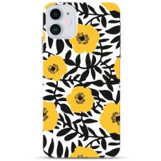 """Iphone 11 TPU dėklas unikaliu dizainu 1.0 mm """"u-case Airskin Flowers 2 design"""""""