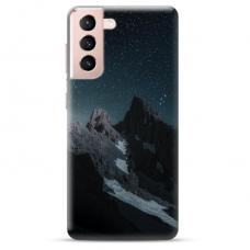 "Samsung Galaxy S21 TPU dėklas unikaliu dizainu 1.0 mm ""u-case Airskin Mountains 1 design"""