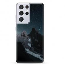 "Samsung Galaxy S21 Ultra TPU dėklas unikaliu dizainu 1.0 mm ""u-case Airskin Mountains 1 design"""