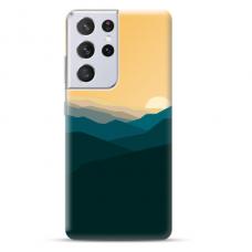 "Samsung Galaxy S21 Ultra TPU dėklas unikaliu dizainu 1.0 mm ""u-case Airskin Mountains 2 design"""