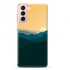 "Samsung Galaxy S21 Plus TPU dėklas unikaliu dizainu 1.0 mm ""u-case Airskin Mountains 2 design"""