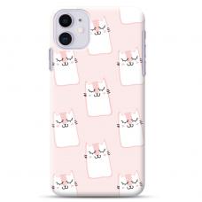 """Iphone 12 Mini TPU dėklas unikaliu dizainu 1.0 mm """"u-case Airskin Pink Kato design"""""""