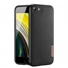 iphone se 2020 dėklas Dux ducis Fino dengtas austu nailonu juodas