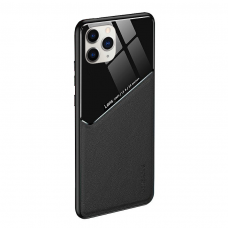 Iphone 12 / 12 pro dėklas su įmontuota metaline plokštele LENS case Juodas