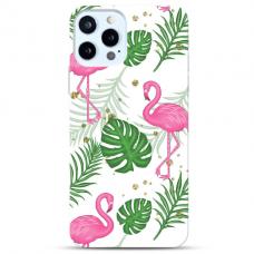 "Iphone 12/ 12 Pro TPU dėklas unikaliu dizainu 1.0 mm ""u-case Airskin Flamingos design"""