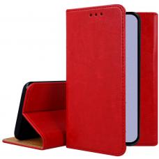 iphone 12 pro ATVERČIAMAS DĖKLAS BOOK SPECIAL TIKRA ODA raudonas