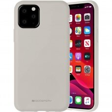 Akcija! iphone 12 dėklas MERCURY SILICONE pilkas