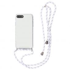 iphone 7 plus / 8 plus dėklas su virvute Strap skaidrus