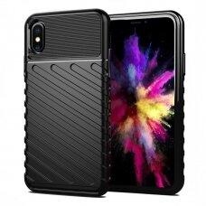 iphone xr dėklas THUNDER SILICON TPU juodas