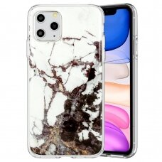 Akcija! iphone 12 mini dėklas GLITTER MARBLE silikonas 2