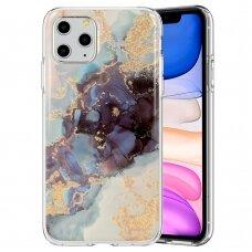 iphone 12 mini dėklas GLITTER MARBLE silikonas 3