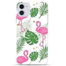 """Iphone 12 Mini TPU dėklas unikaliu dizainu 1.0 mm """"u-case Airskin Flamingos design"""""""