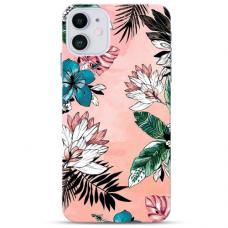 """Iphone 12 Mini TPU dėklas unikaliu dizainu 1.0 mm """"u-case Airskin Flowers 1 design"""""""