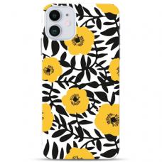 """Iphone 12 Mini TPU dėklas unikaliu dizainu 1.0 mm """"u-case Airskin Flowers 2 design"""""""