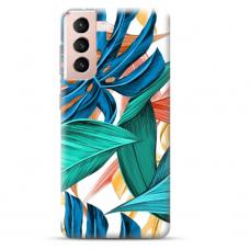"""Samsung Galaxy S21 Plus TPU dėklas unikaliu dizainu 1.0 mm """"u-case Airskin Leaves design"""""""