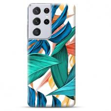 """Samsung Galaxy S21 Ultra TPU dėklas unikaliu dizainu 1.0 mm """"u-case Airskin Leaves 1 design"""""""