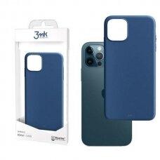 Akcija! Iphone 12 pro dėklas 3MK Matt TPU 1,2mm mėlynas