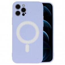 Iphone 12 pro dėklas Mag Silicone violetinis