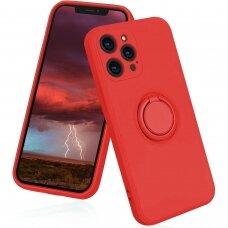 iphone 13 pro dėklas su magnetu Finger Ring Raudonas