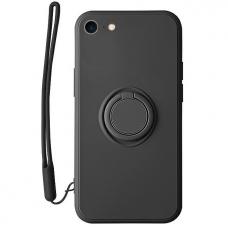 iphone SE 2020/ 7/ 8 dėklas su magnetu Pastel Ring Juodas