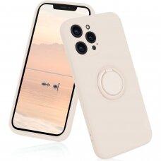 iphone 12 pro dėklas su magnetu Pastel Ring Baltas