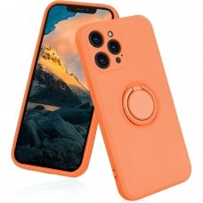 iphone 13 pro max dėklas su magnetu finger Ring Oranžinis